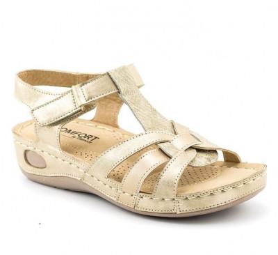 Sandale na debelom đonu LS99050 zlatne