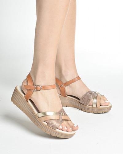 Sandale na debelom đonu S247 kamel