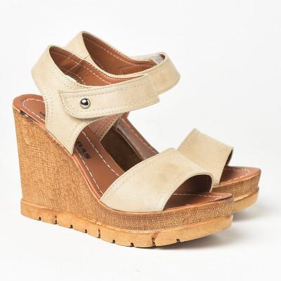 Sandale na platformu 1035 bež