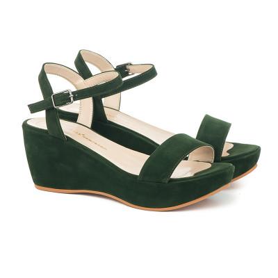 Sandale na platformu 709 tamno zelene
