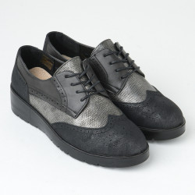 Ženske cipele na pertlanje L85554-2 sive