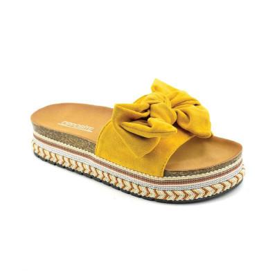 Ženske papuče na debelom đonu LP021251 žute