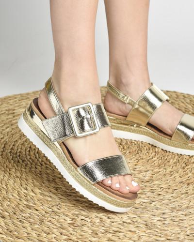 Ženske sandale na debelom djonu LS212008 zlatne