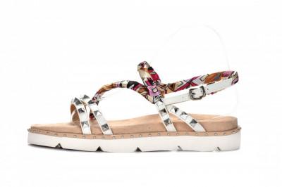 Ženske sandale na debelom djonu LS782101 bele