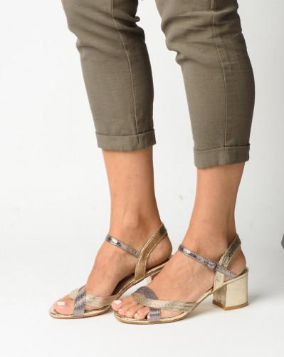 Ženske sandale S21504 zlatno/srebrne