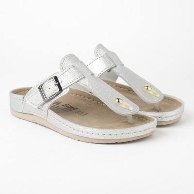 Anatomske papuče 123/1 srebrne