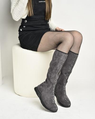Čarapa čizme na modernom đonu W1786A-91121 sive