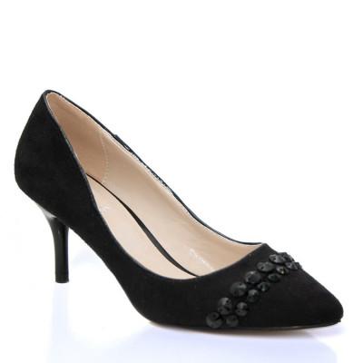 Cipele na malu štiklu L16105-1 crne