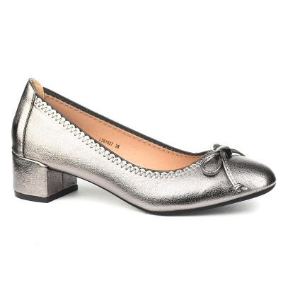 Cipele na malu štiklu L761927 srebrne