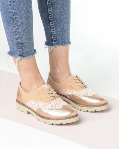 Cipele oksfordice C1801 puder roze