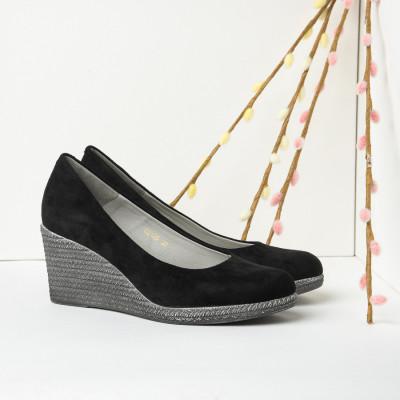 Cipele sa platformom C2126 crne