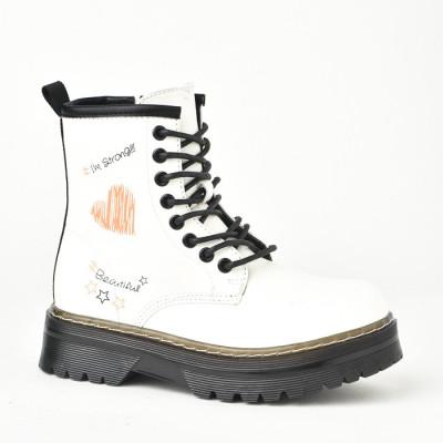 Čizmice za devojčice CH031901 bele