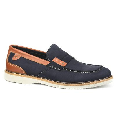 Kožne muške cipele 7417 teget