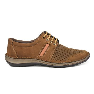 Kožne muške cipele 9559 kamel