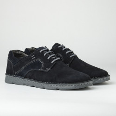 Kožne muške cipele na pertlanje 2820 crna
