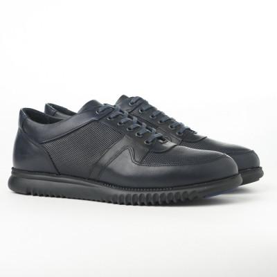 Kožne muške cipele/patike AP8859 teget