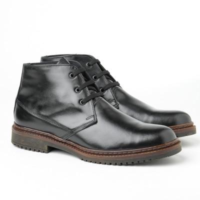 Kožne muške duboke cipele 8141 crne
