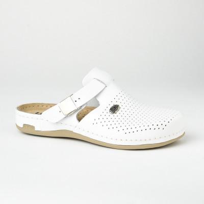 Kožne papuče/klompe 950 bele