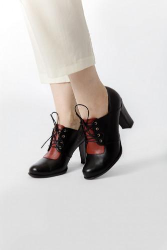 Kožne ženske cipele 14-121 crne
