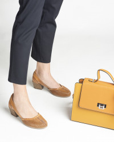 Kožne ženske cipele 1911 kamel