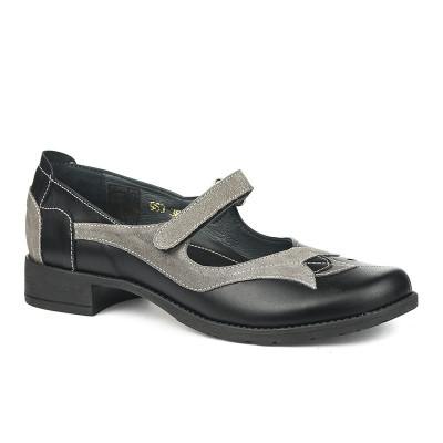 Kožne ženske cipele 2-963 crne