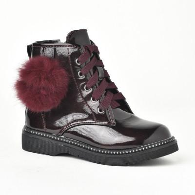 Lakovane čizme za devojčice BH251932 bordo