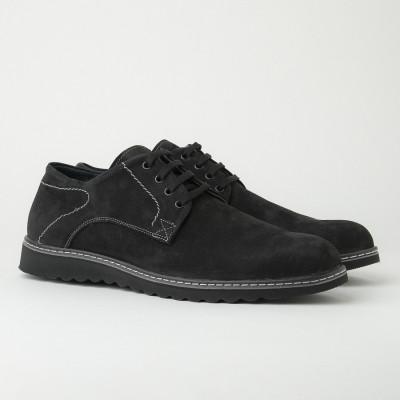Muške kožne cipele Gazela 7010/011 crne velur