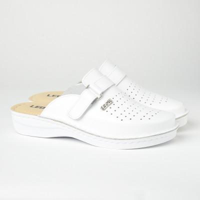 Muške kožne papuče/klompe V230 bele