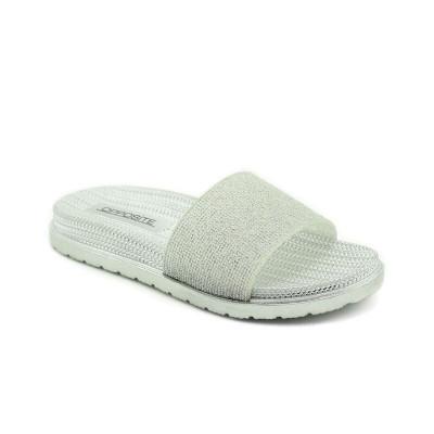 Ravne papuče LP021028 srebrne
