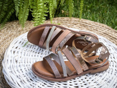 Ravne sandale LS211902 bronzane