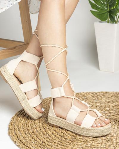 Sandale na debelom djonu LS020123 bež