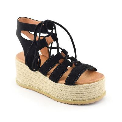 Sandale na debelom djonu LS021700 crne