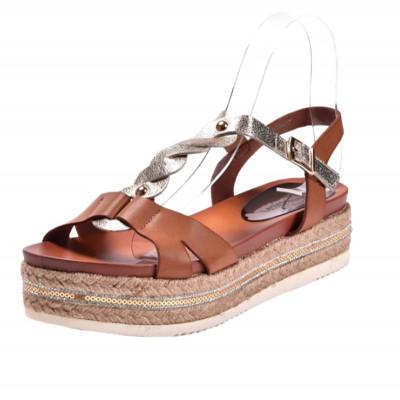 Sandale na debelom đonu LS79807 kamel