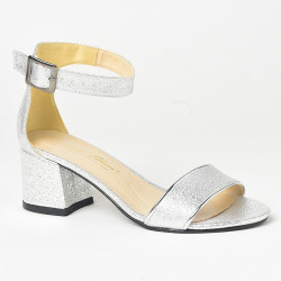 Sandale na štiklu 229-183 srebrne