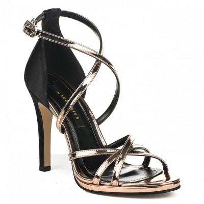 Sandale na štiklu 7326 crno roze