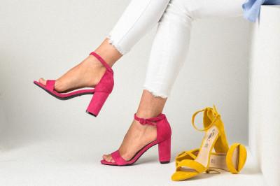 Sandale na štiklu LS241918 pink