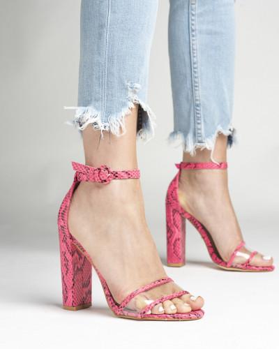 Sandale na štiklu LS242035 pink