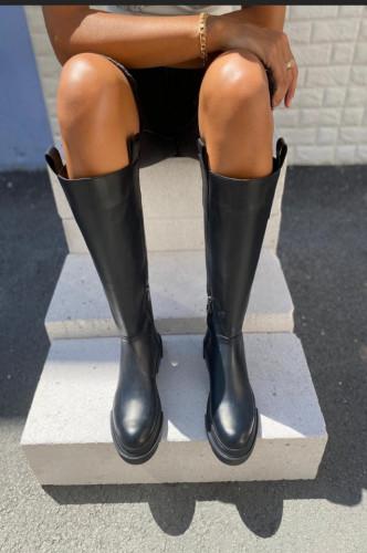 Ženske duboke čizme L5173 crne