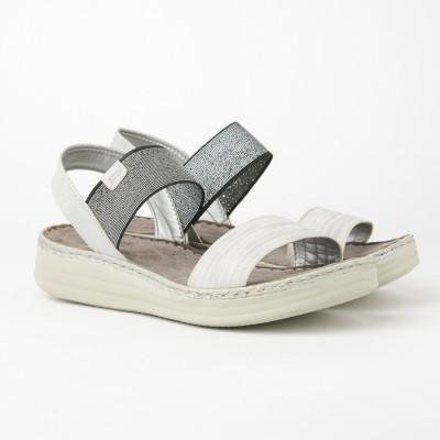 Ženske sandale na debelom djonu 172320 sivo-srebrne