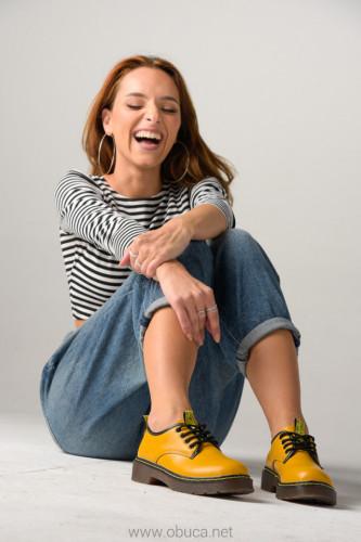 Cipele na pertlanje C426 žute