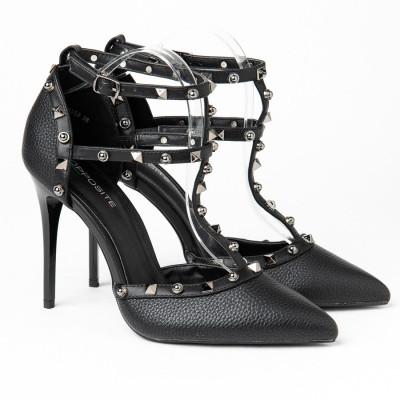 Cipele na štiklu l096552 crne
