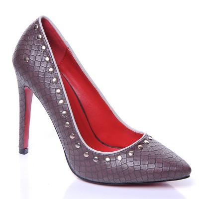 Cipele na štiklu L16099 braon