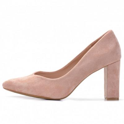 Cipele na štiklu L241929 puder roze