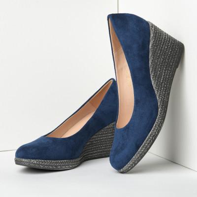 Cipele sa platformom C2126 teget