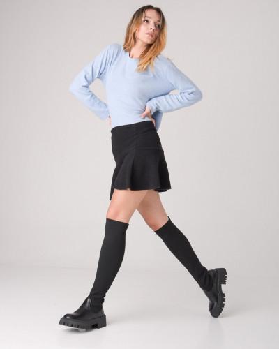 Čizme preko kolena WL3102-1 crne