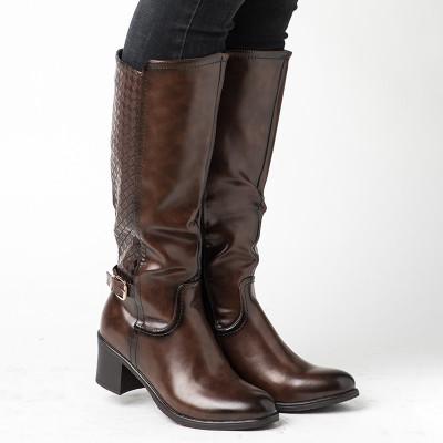 Duboke ženske čizme LX601801 braon