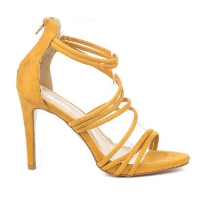 Elegantne sandale na štiklu S4307 žute
