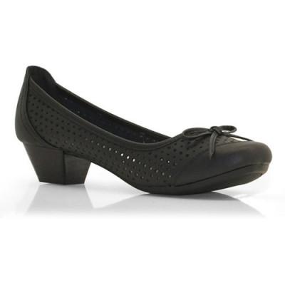 Kožne cipele sa malom štiklom L01A407 crne