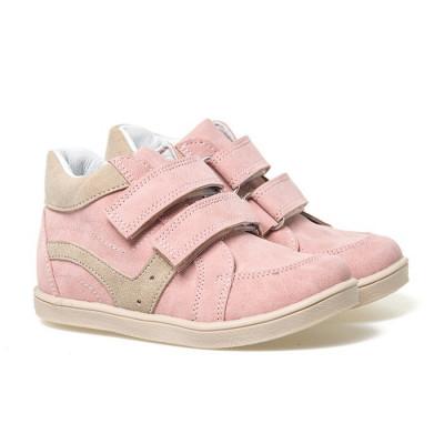 Kožne dečije cipele sa anatomskim uloškom G02 roze