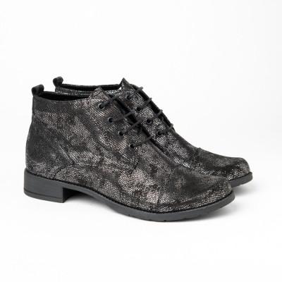 Kožne duboke cipele 2-901/12 crna